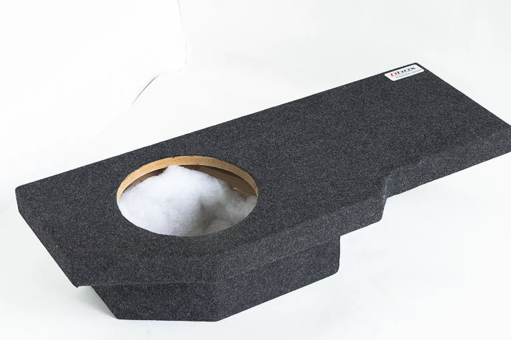 "Atrend A201-12CP Single 12"" Sealed Carpeted Subwoofer Enclosure - Fits 2002 - 2017 Dodge Ram Quad Cab"