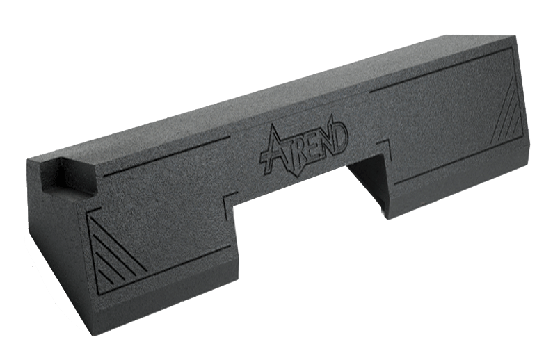 "Atrend A102-12 Dual 12"" Sealed Spraylinered Subwoofer Enclosure - Fits 1988 - 1998 Chevrolet / GMC Full Size Pickup Extended Cab"