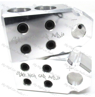Sky High Car Audio SAE 2/0 4 Input Set Screw Battery Terminal
