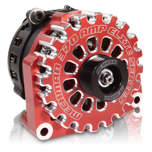 Mechman 370 Amp Red Billet Aluminum Alternator 2005-2013+ Chevrolet / GMC / Cadillac / Hummer Truck