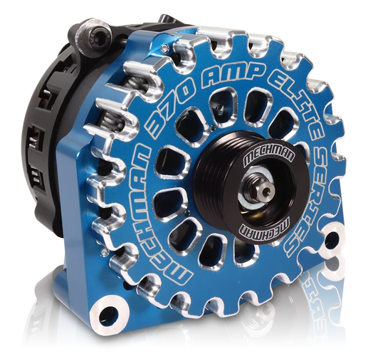 Mechman 370 Amp Blue Billet Aluminum Alternator 2005-2013+ Chevrolet / GMC / Cadillac / Hummer Truck