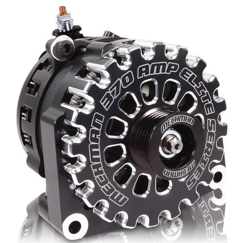 370 Amp Black Billet Alternator for 14-18 GM Silverado Sierra Suburban Tahoe Escalade