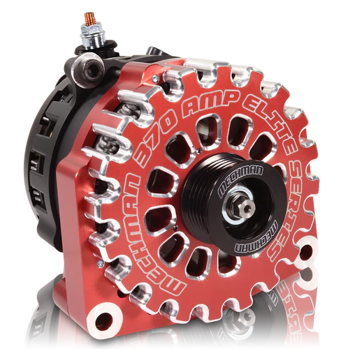 370 Amp Red Billet Alternator for 14-18 GM Silverado Sierra Suburban Tahoe Escalade