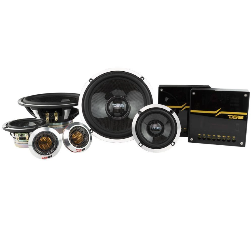 "DX3N | 6.5"" 580 WATT PREMIUM 3 WAY COMPONENT SPEAKER SYSTEM"