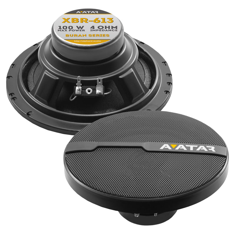 "XBR-613 | 6.5"" 50 WATT PERFORMANCE COAXIAL CAR SPEAKERS - PAIR"