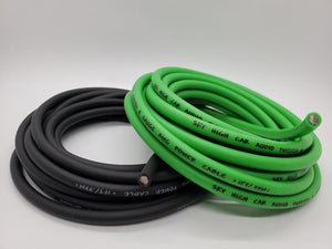 25' Super Flexible 8 Gauge Power & Ground Wire Cable 12.5 Green 12.5 ft Black Sky High Car Audio