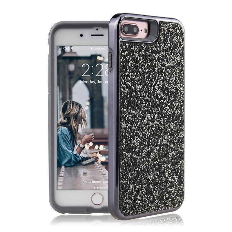 All That Glitter Charcoal Crystal Case iPhone Case Get.Casely