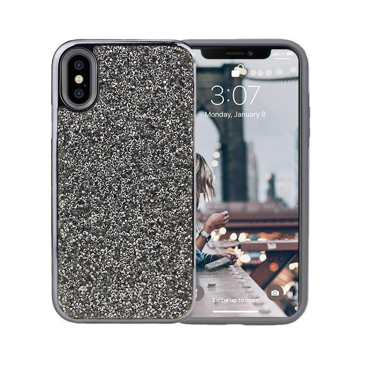 All That Glitter Charcoal Crystal Case iPhone Case Get.Casely Classic iPhone X / XS