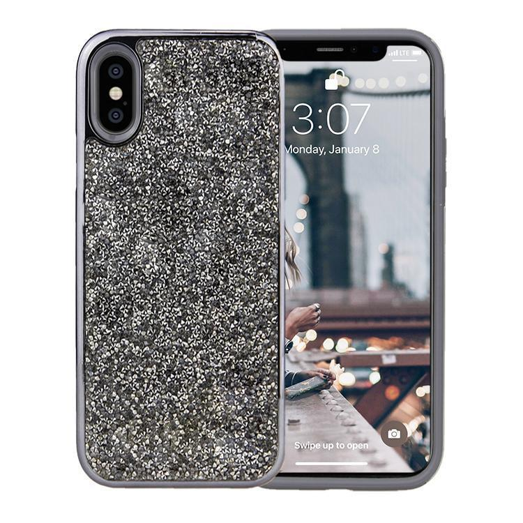 All That Glitter Charcoal Crystal Case iPhone Case Get.Casely Classic iPhone XS Max