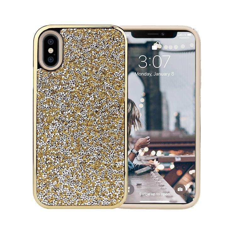All That Glitter Gold Crystal Case iPhone Case Get.Casely Classic iPhone X / XS