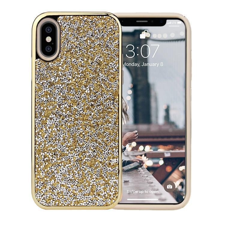 All That Glitter Gold Crystal Case iPhone Case Get.Casely Classic iPhone XS Max