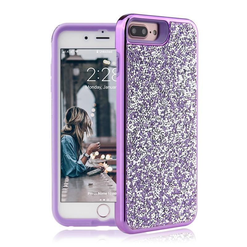 All That Glitter Purple Chrome Crystal Case iPhone Case Get.Casely