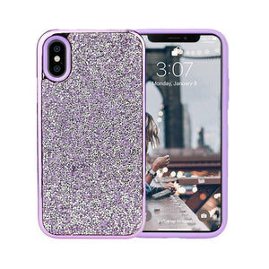 All That Glitter Purple Chrome Crystal Case iPhone Case Get.Casely Classic iPhone X / XS