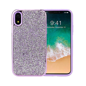 All That Glitter Purple Chrome Crystal Case iPhone Case Get.Casely Classic iPhone XR