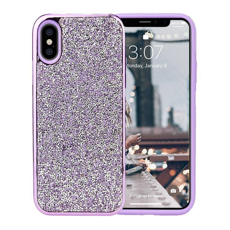 All That Glitter Purple Chrome Crystal Case iPhone Case Get.Casely Classic iPhone XS Max