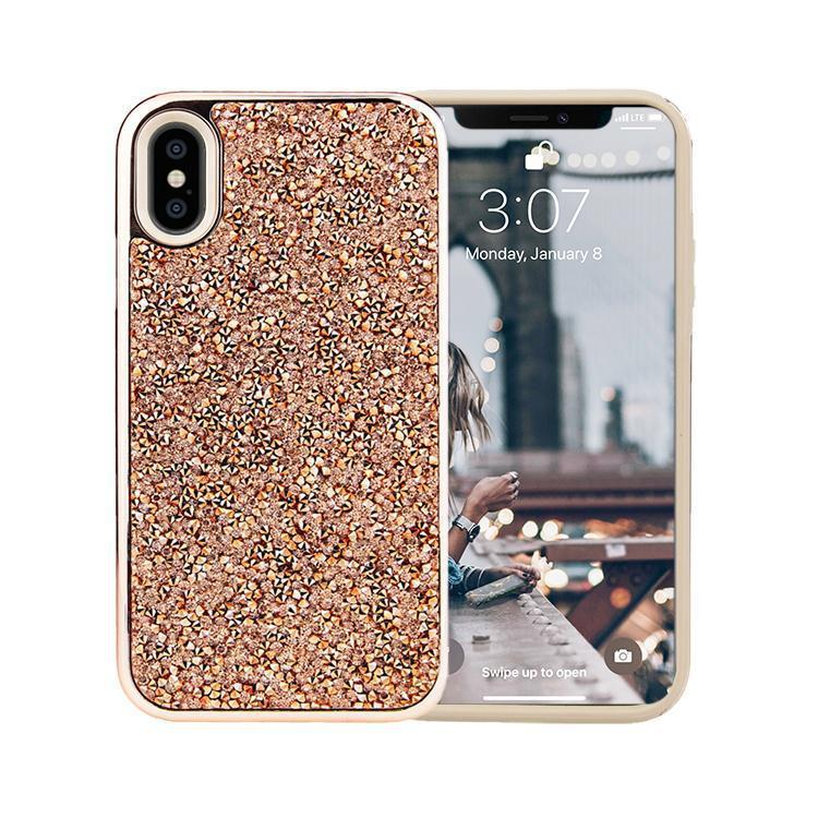 All That Glitter Rose Gold Crystal Case iPhone Case Get.Casely Classic iPhone X / XS