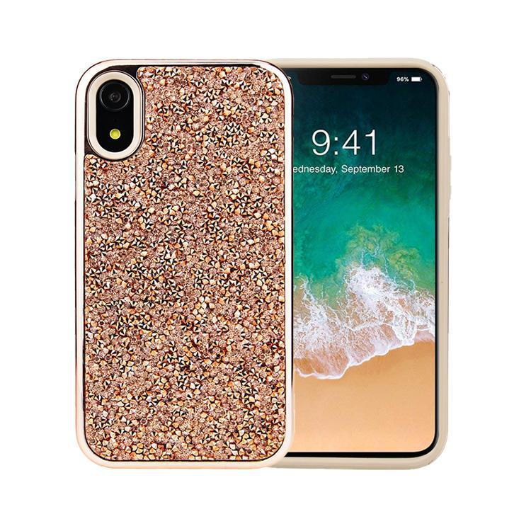 All That Glitter Rose Gold Crystal Case iPhone Case Get.Casely Classic iPhone XR