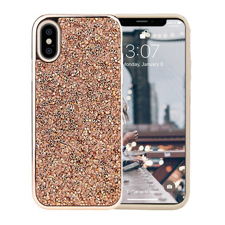 All That Glitter Rose Gold Crystal Case iPhone Case Get.Casely Classic iPhone XS Max