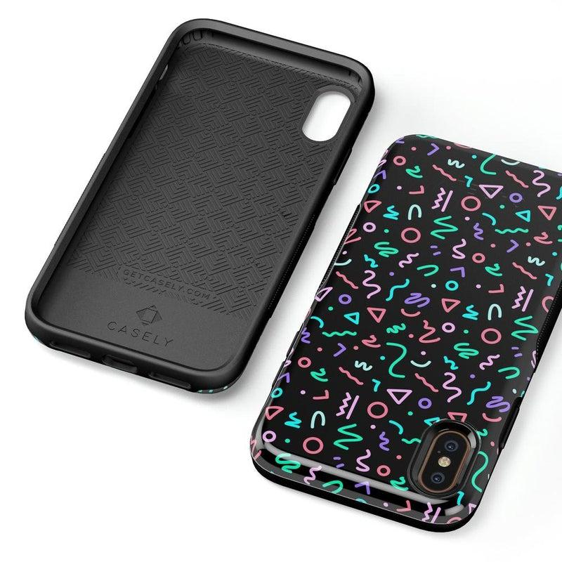 Always Vibing | Glow In The Dark Retro Case iPhone Case get.casely