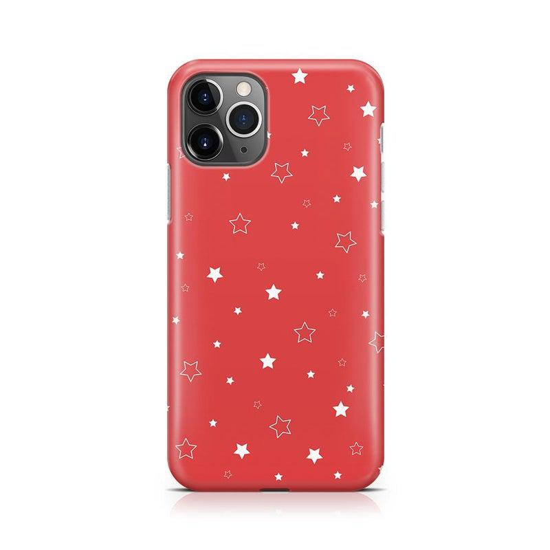 Among the Stars Red Star Patterned Case iPhone Case Get.Casely Classic iPhone 11 Pro