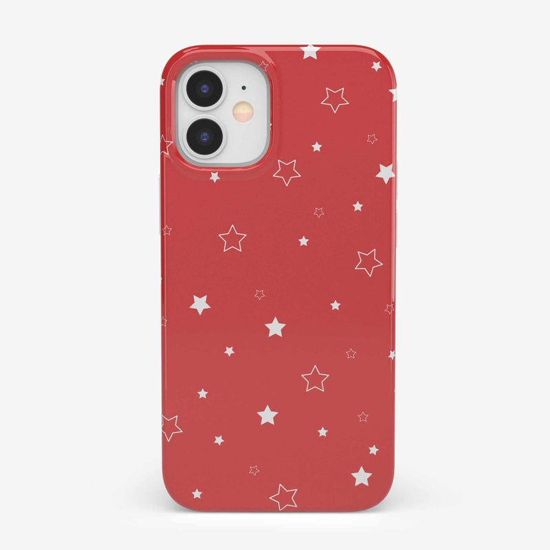 Among the Stars Red Star Patterned Case iPhone Case get.casely Classic iPhone 12 Mini