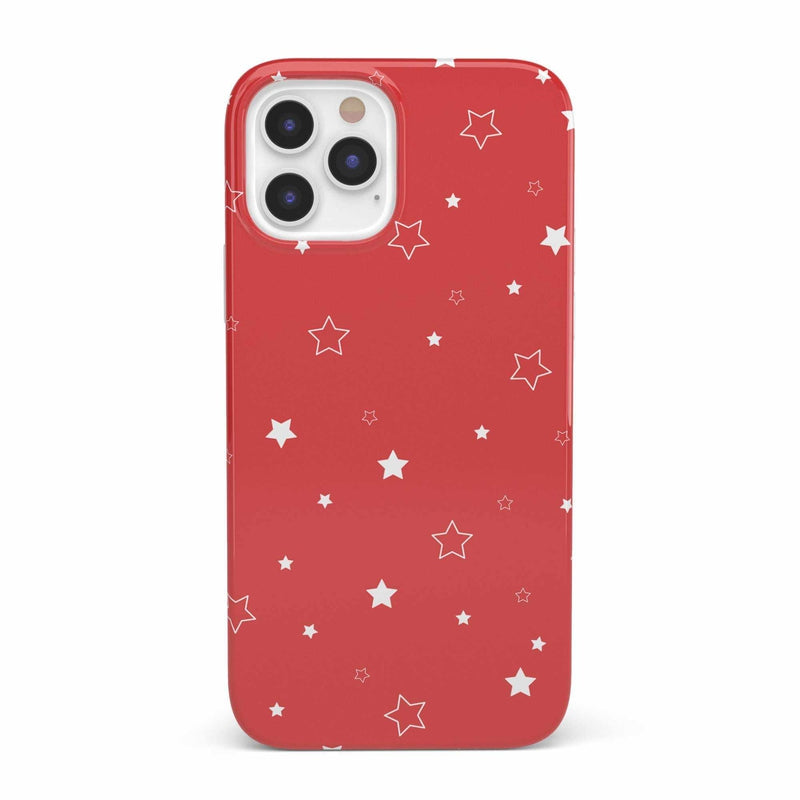 Among the Stars Red Star Patterned Case iPhone Case get.casely Classic iPhone 12 Pro