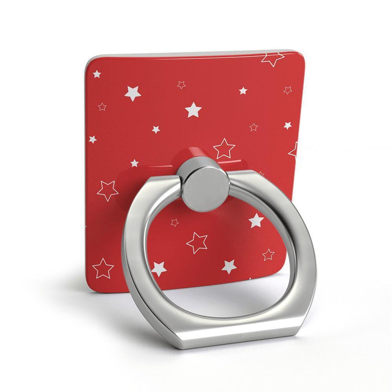 Among the Stars Red Star Patterned Phone Ring Phone Ring get.casely