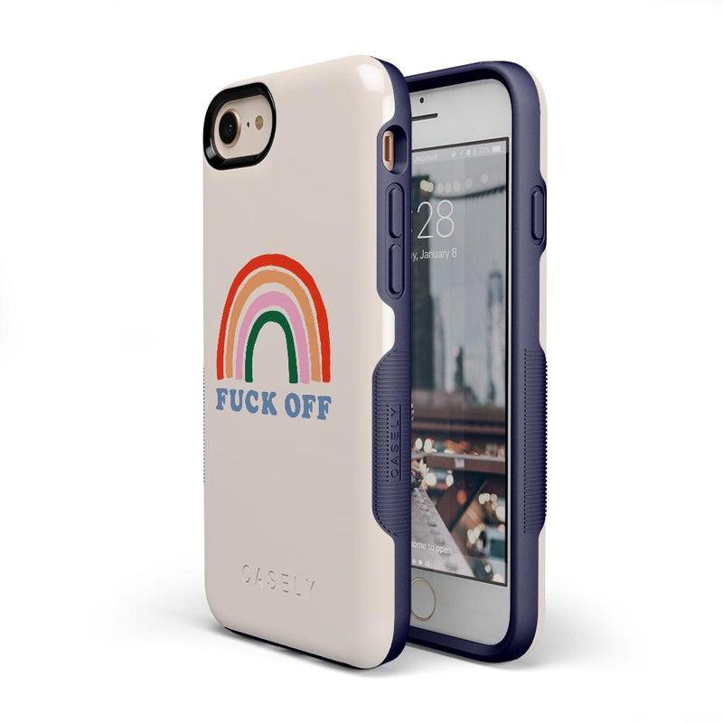 An Ode to 2020: F*ck Off Rainbow Case iPhone Case get.casely