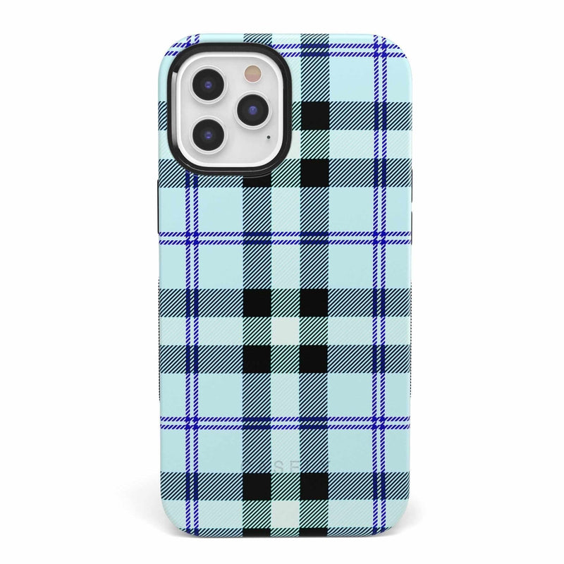 As if! Light Blue Plaid Case iPhone Case get.casely Bold iPhone 12 Mini