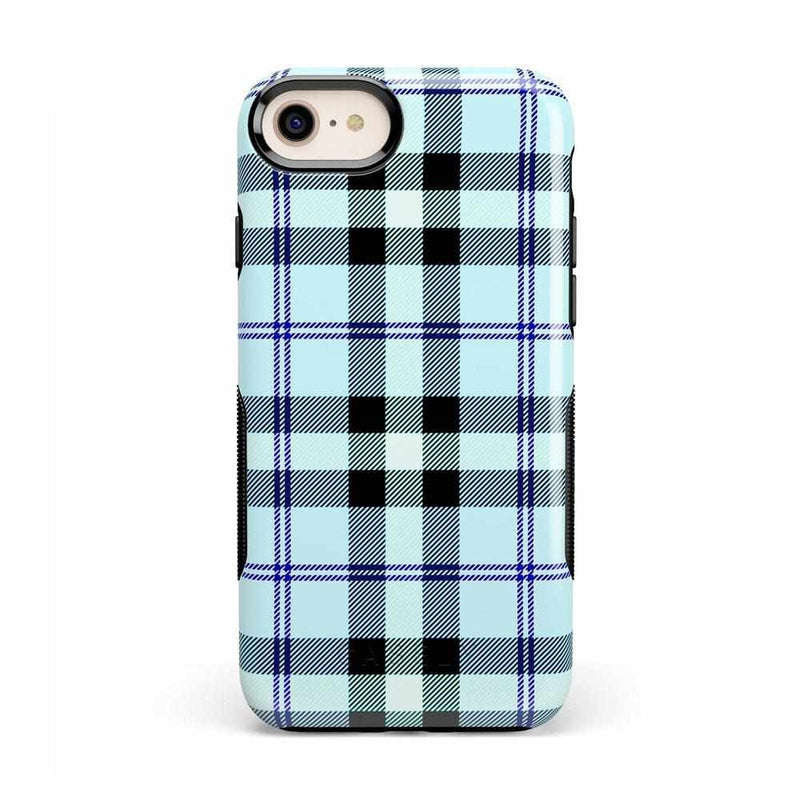 As if! Light Blue Plaid Case iPhone Case Get.Casely Bold iPhone 8