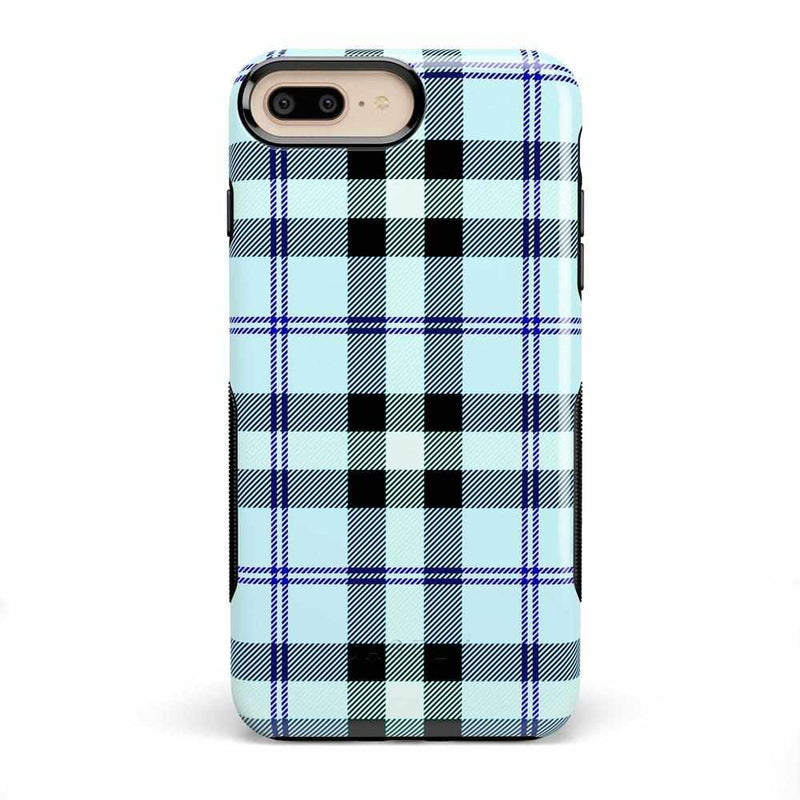 As if! Light Blue Plaid Case iPhone Case Get.Casely Bold iPhone 8 Plus