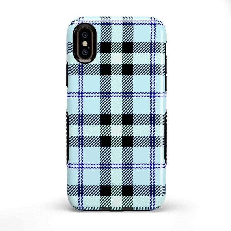 As if! Light Blue Plaid Case iPhone Case Get.Casely Bold iPhone X / XS