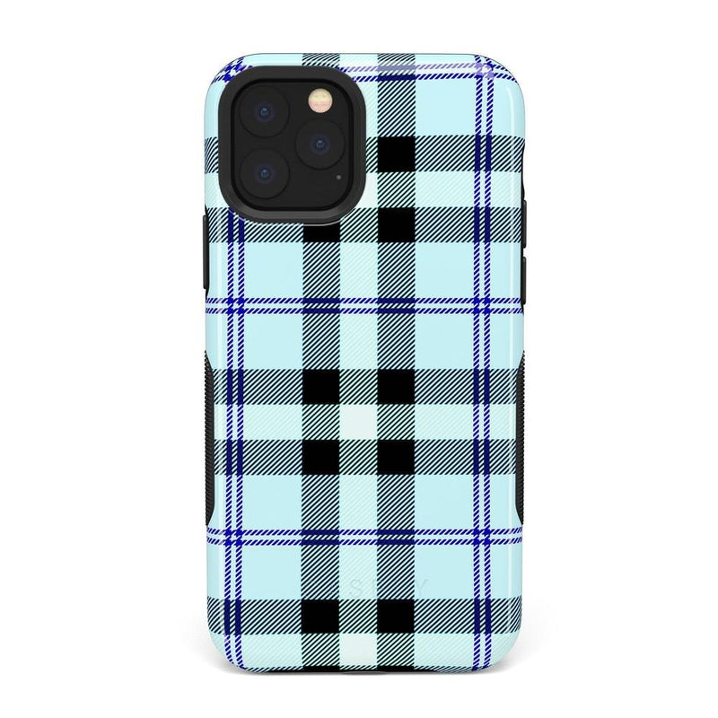 As if! Light Blue Plaid Case iPhone Case Get.Casely Bold iPhone XI