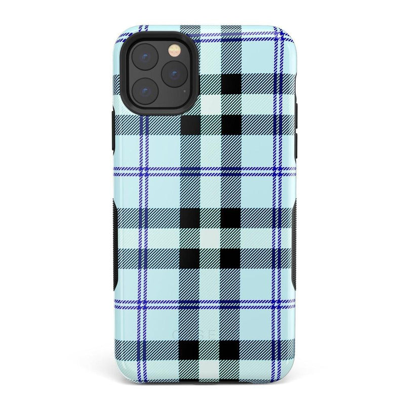 As if! Light Blue Plaid Case iPhone Case Get.Casely Bold iPhone XI Max