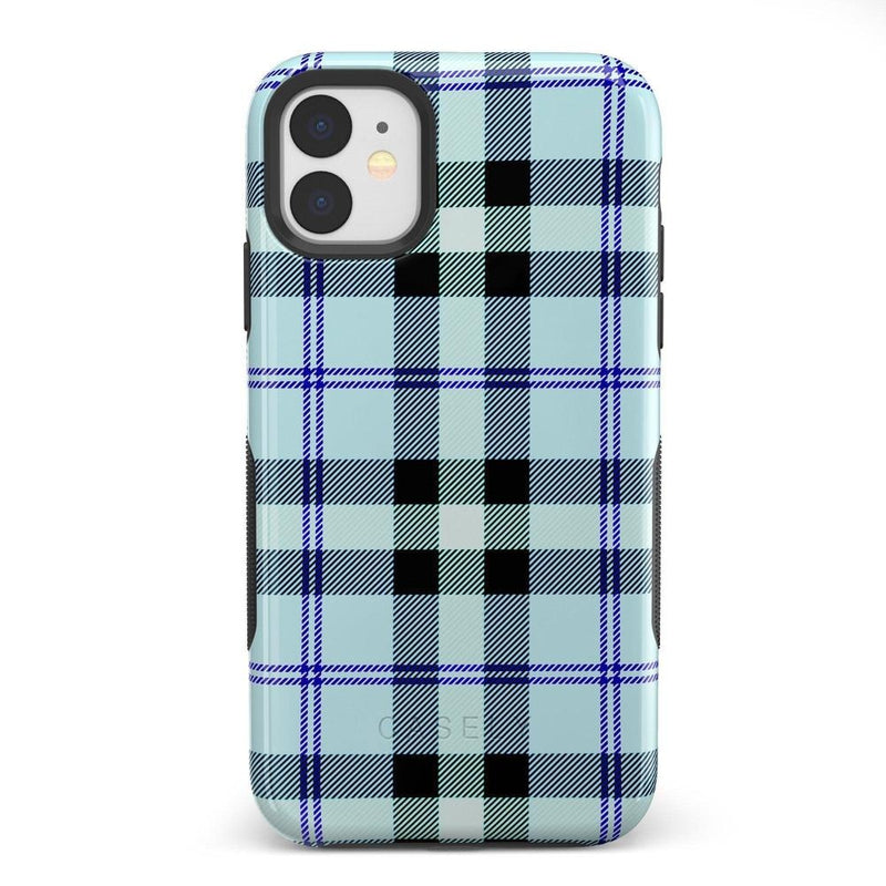 As if! Light Blue Plaid Case iPhone Case Get.Casely Bold iPhone XIR
