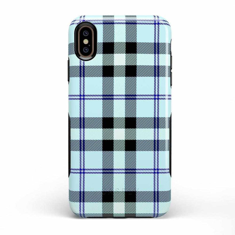 As if! Light Blue Plaid Case iPhone Case Get.Casely Bold iPhone XS Max