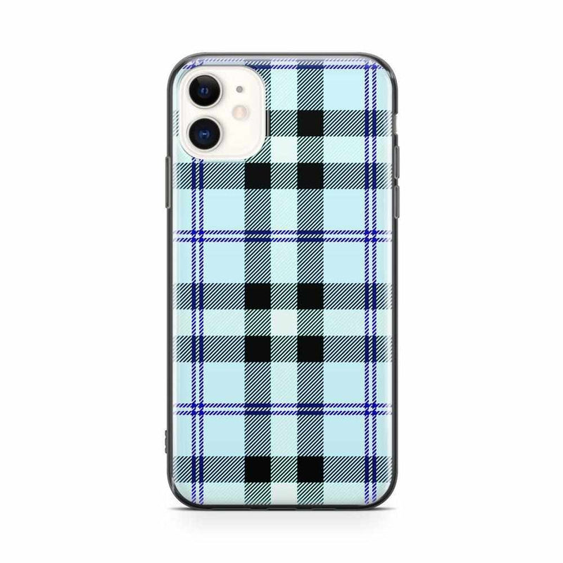 As if! Light Blue Plaid Case iPhone Case get.casely Classic iPhone 11