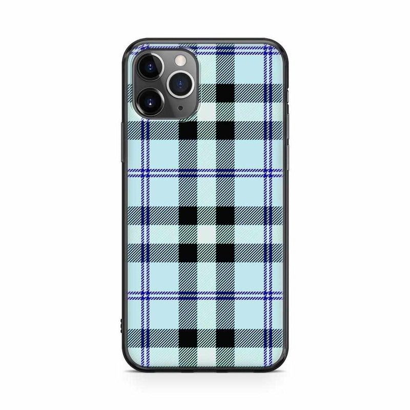 As if! Light Blue Plaid Case iPhone Case get.casely Classic iPhone 11 Pro