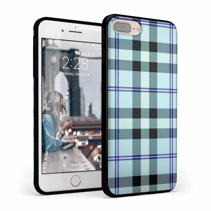 As if! Light Blue Plaid Case iPhone Case Get.Casely Classic iPhone 6/6s Plus