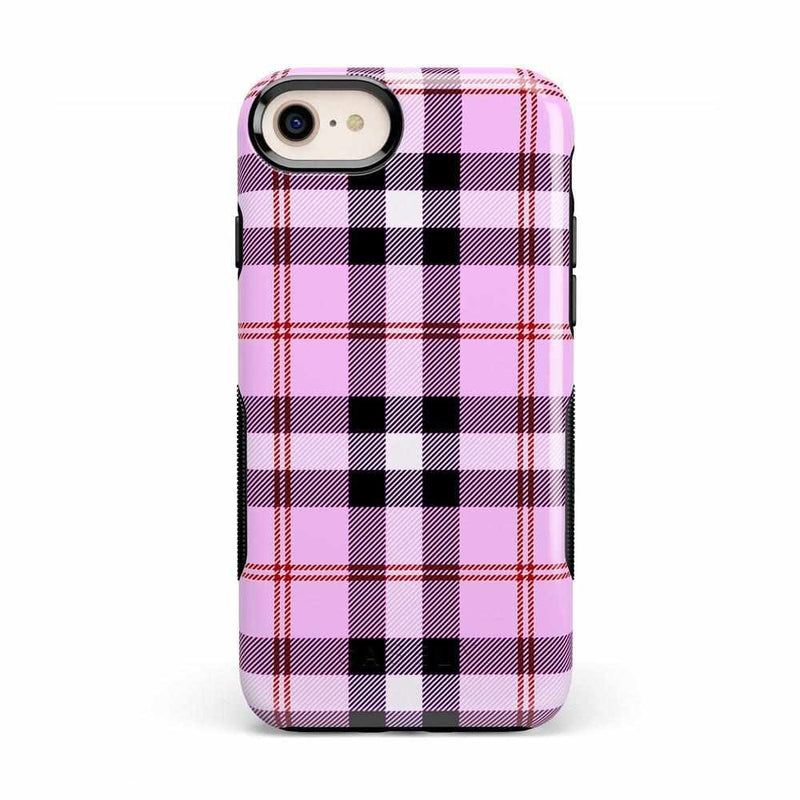 As if! Light Purple Plaid Case iPhone Case Get.Casely Bold iPhone 8
