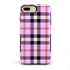 As if! Light Purple Plaid Case iPhone Case Get.Casely Bold iPhone 8 Plus
