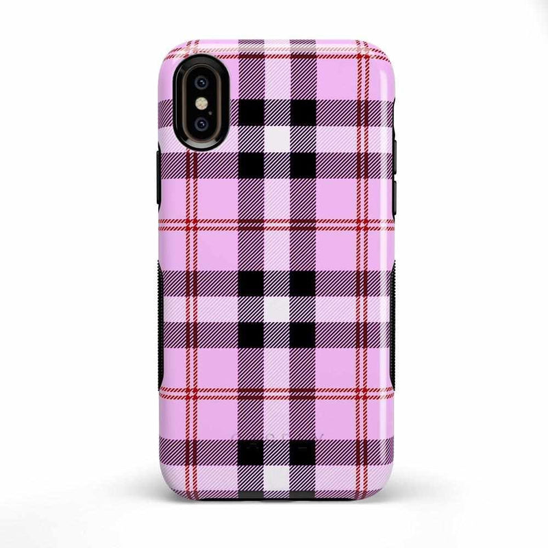 As if! Light Purple Plaid Case iPhone Case Get.Casely Bold iPhone X / XS