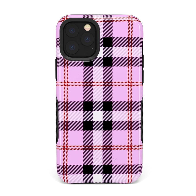 As if! Light Purple Plaid Case iPhone Case Get.Casely Bold iPhone XI