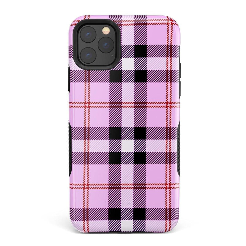 As if! Light Purple Plaid Case iPhone Case Get.Casely Bold iPhone XI Max