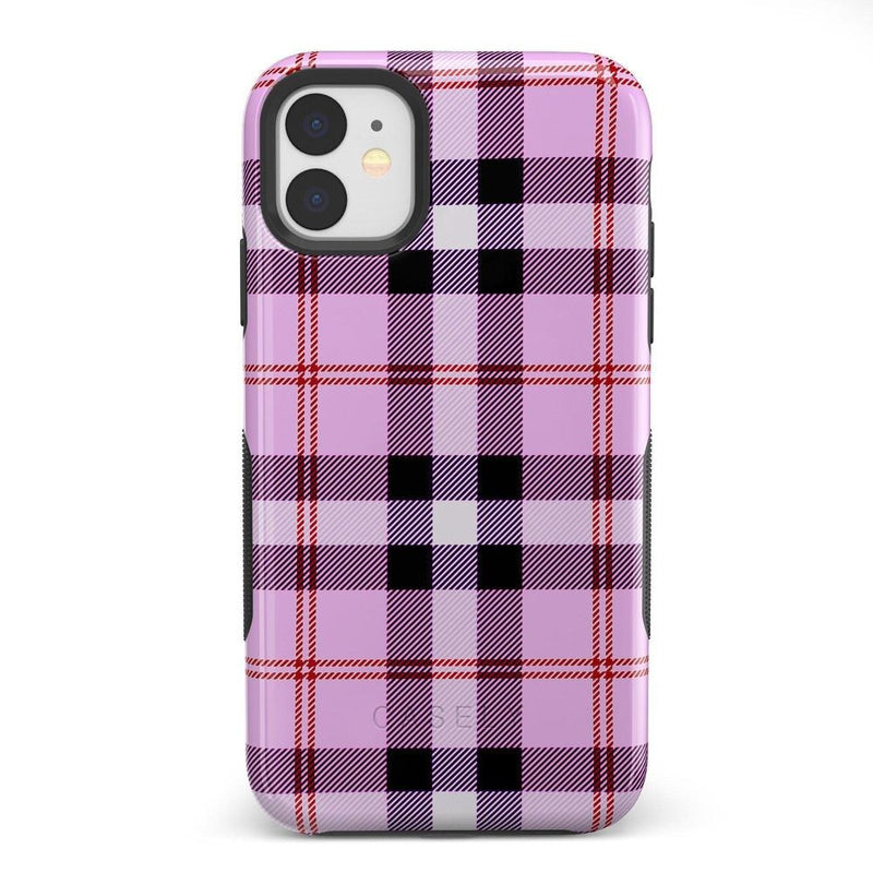 As if! Light Purple Plaid Case iPhone Case Get.Casely Bold iPhone XIR