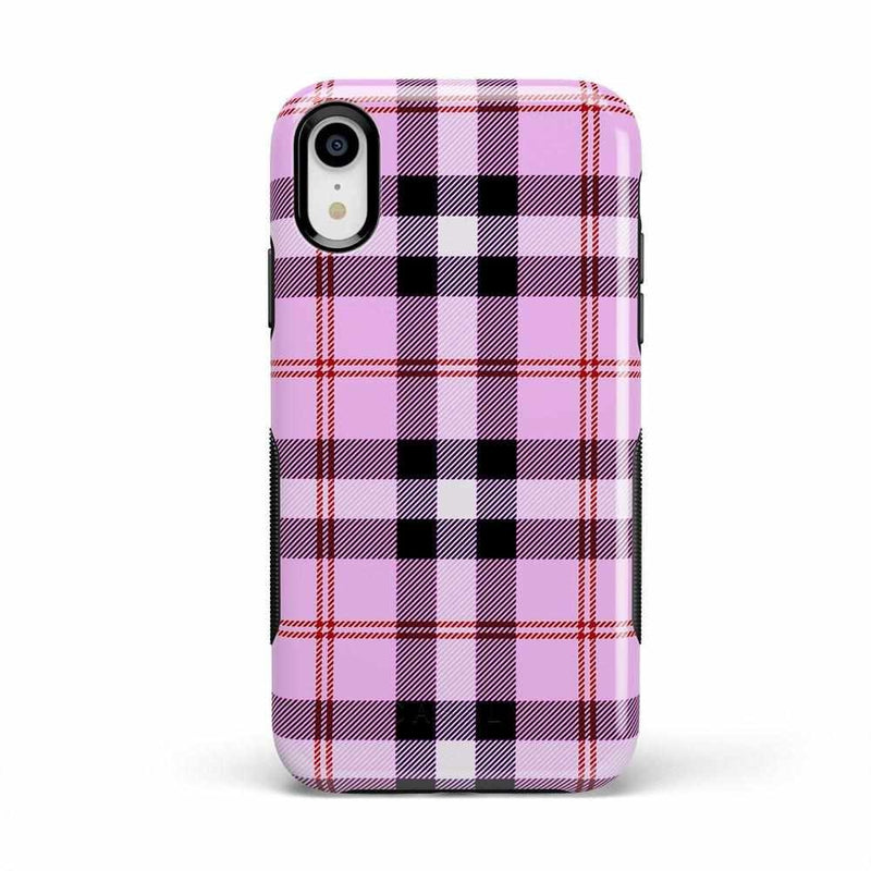 As if! Light Purple Plaid Case iPhone Case Get.Casely Bold iPhone XR