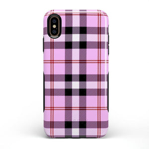As if! Light Purple Plaid Case iPhone Case Get.Casely Bold iPhone XS Max