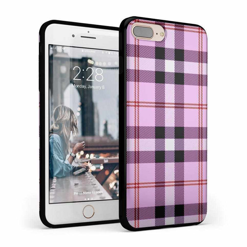 As if! Light Purple Plaid Case iPhone Case Get.Casely Classic iPhone 6/6s Plus