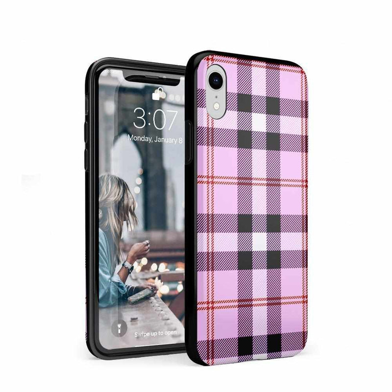 As if! Light Purple Plaid Case iPhone Case Get.Casely Classic iPhone XR
