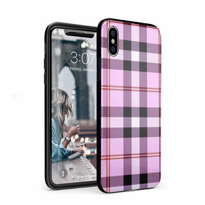 As if! Light Purple Plaid Case iPhone Case Get.Casely Classic iPhone XS Max